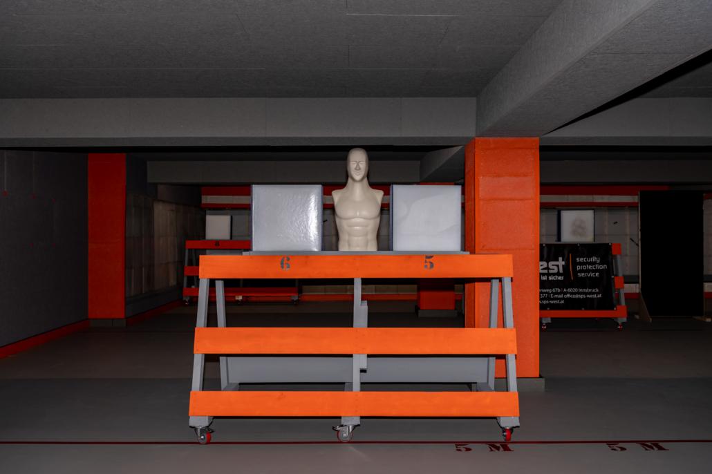 Ausstattung Trainingszentrum | Mobiler Kugelfang | Act & Respond GmbH