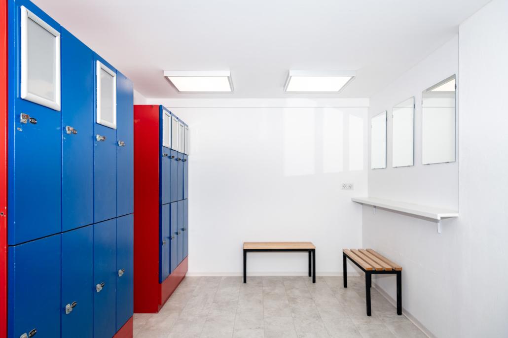 Ausstattung Trainingszentrum |Umkleide Damen | Act & Respond GmbH
